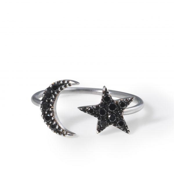 Anillo Moon & Star Midi Ring
