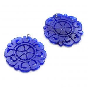Perillas redondas Jade Azul
