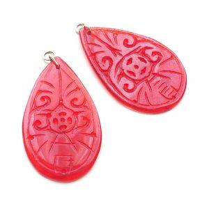 Perillas Grandes Jade Rojo
