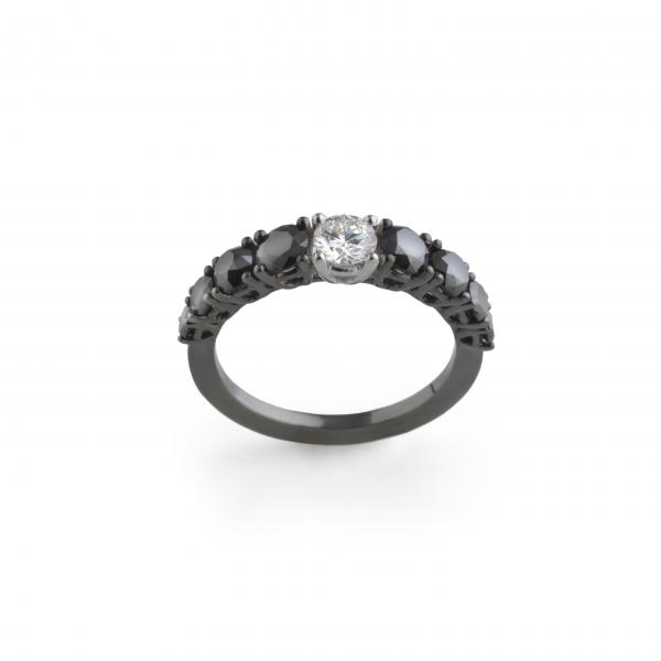 7 anillo diamantes